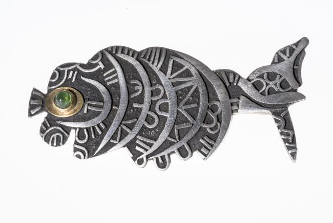 Brosche: Aramäischer Fisch